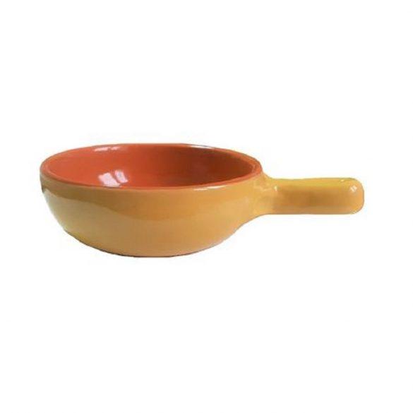 Vas ceramica termo 15 cm, galben, 1 maner, De Silva