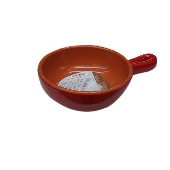 Vas ceramica termo 15 cm, rosu, 1 maner, De Silva