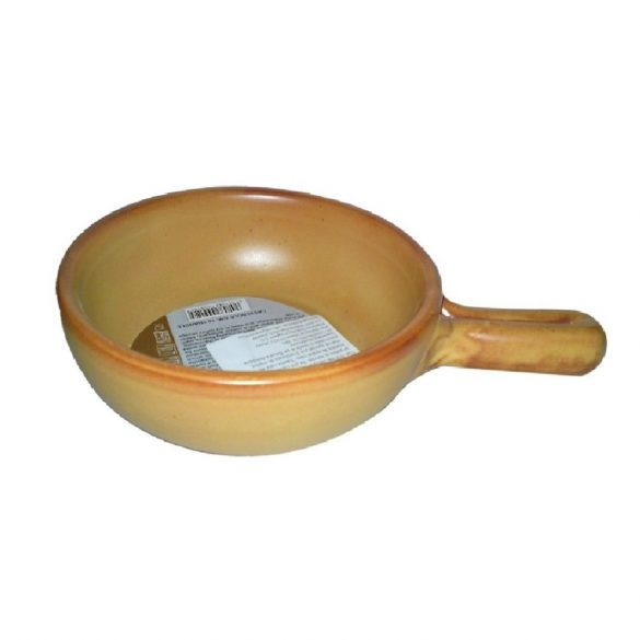 Vas ceramica termo 21 cm, tabac, 1 maner, De Silva