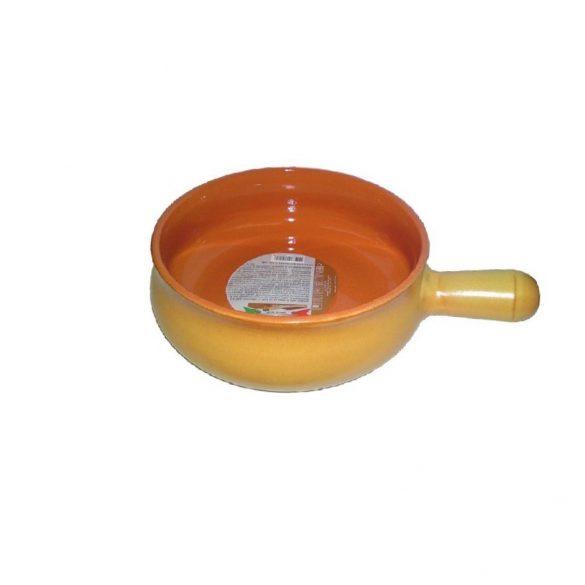 Vas ceramica termo 14 cm, tabac, 1 maner, De Silva