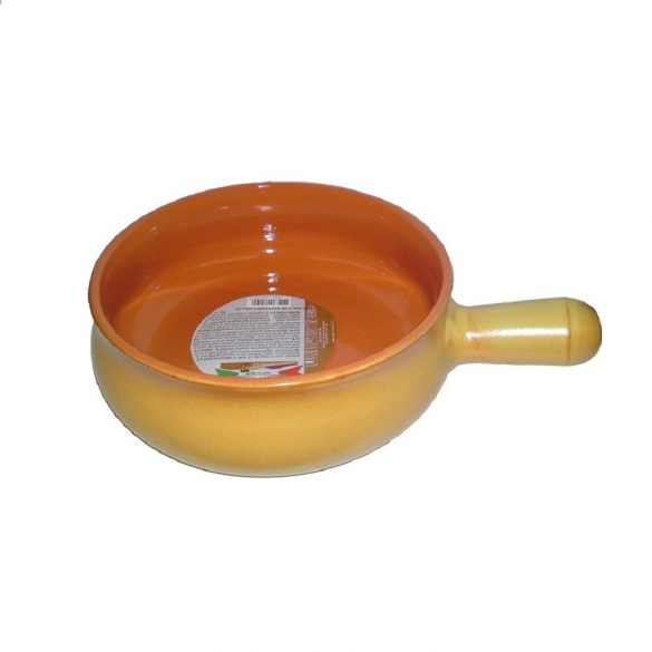 Vas ceramica termo 17 cm, tabac, 1 maner, De Silva