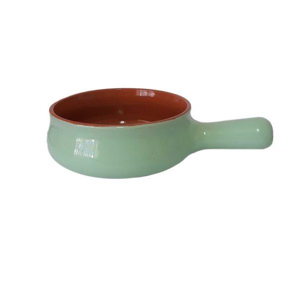 Vas ceramica termo 17 cm, verde, 1 maner, De Silva