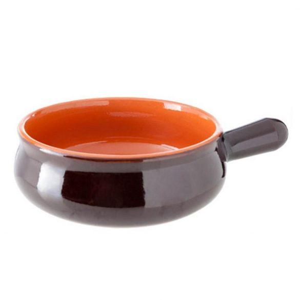 Vas ceramica termo 20 cm, maro,  1 maner, De Silva