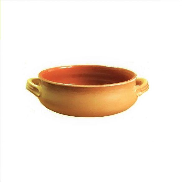 Vas ceramica termo 14 cm, tabac, 2 manere, De Silva