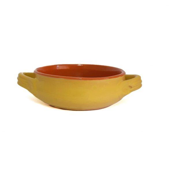 Vas ceramica termo 14 cm, galben, 2 manere, De Silva