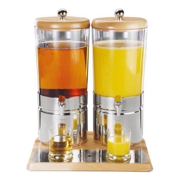 Dispenser suc natural 2x 6l Top Wood