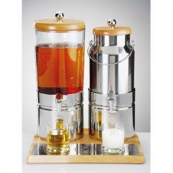 Dispenser suc si lapte 6+5l Top Wood