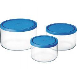 Set 3 recipiente cu capac plastic Simax