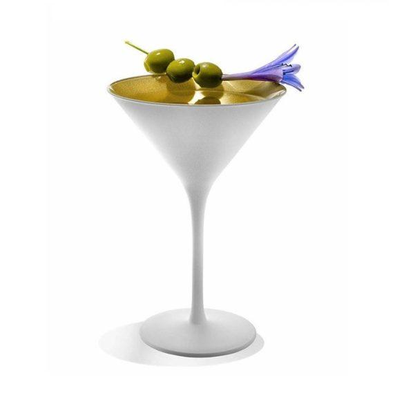 Pahar Martini Alb mat Auriu 240ml Stolzle