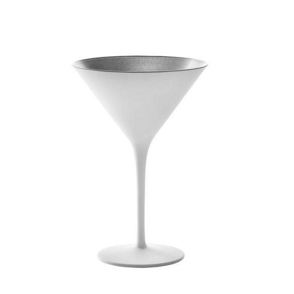 Pahar Martini Alb mat Argintiu 240ml Stolzle