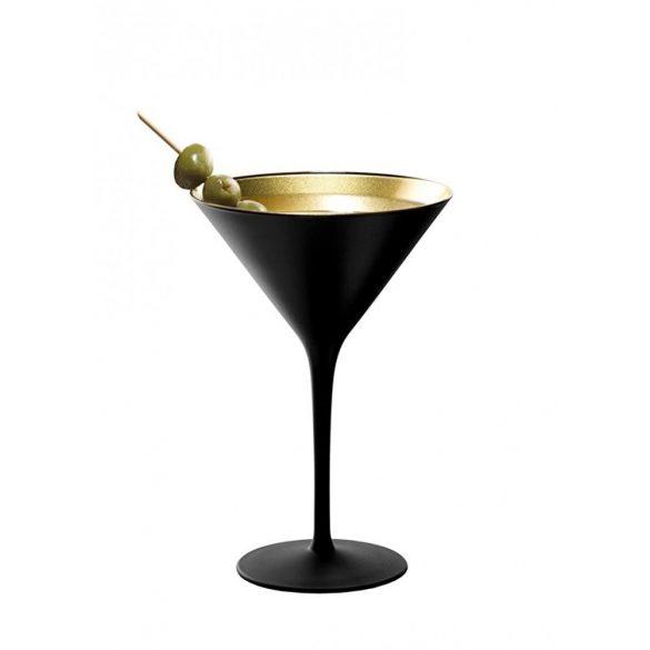 Pahar Martini Negru mat Auriu 240ml Stolzle