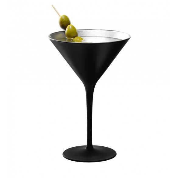 Pahar Martini Negru mat Argintiu 240ml Stolzle
