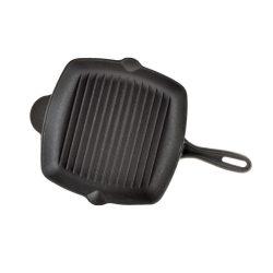 Tigaie fonta patrata grill cu cioc 25,5cm