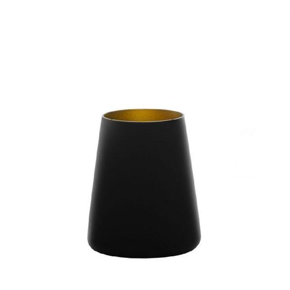 Pahar tumbler 380ml Stolzle Power negru mat auriu