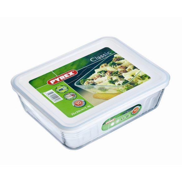Vas termo rectangular capac plastic 2,6l Pyrex