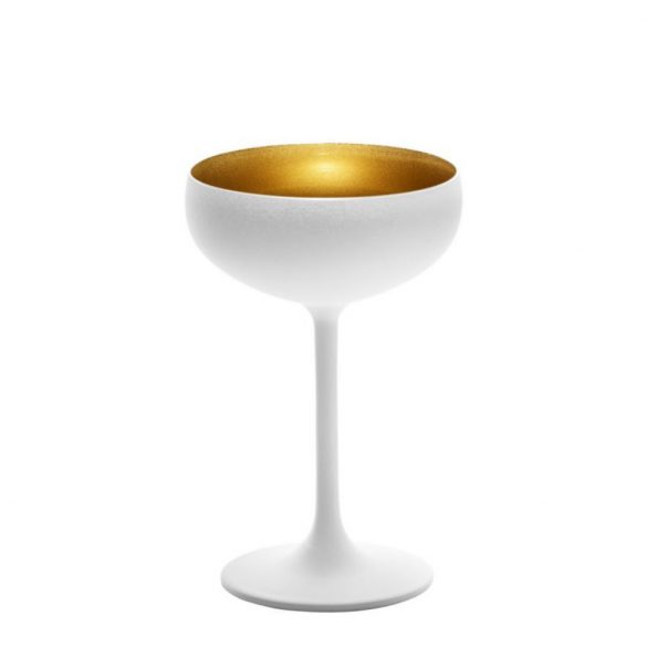 Cupa sampanie 230ml Stolzle Olympic Alb (mat) Auriu