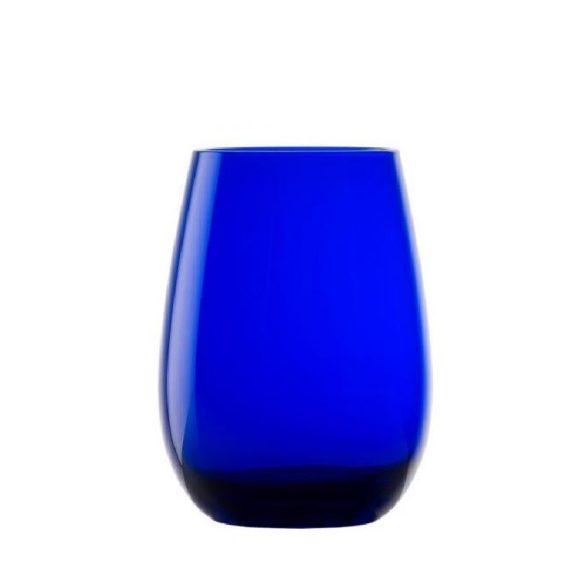 Pahar oblic, fara picior, culoare Albastru, 465 ml, Stolzle, linia Elements