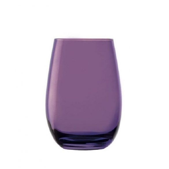 Pahar oblic, fara picior, culoare Mov, 465 ml, Stolzle, linia Elements