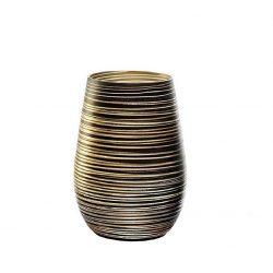 Pahar oblic 465ml Stolzle Twister negru auriu