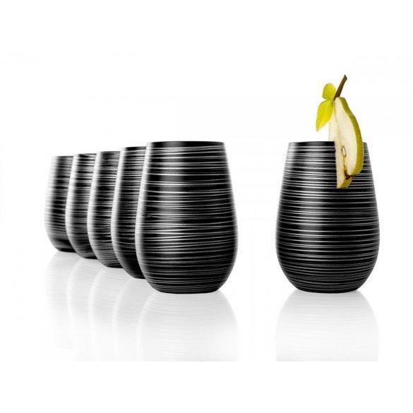 Pahar oblic 465ml Stolzle Twister negru argintiu