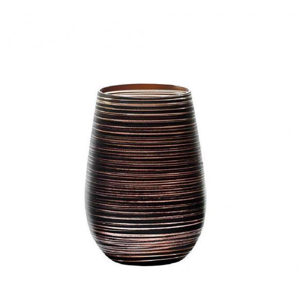 Pahar oblic 465ml Stolzle Twister negru bronz