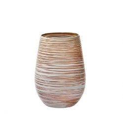 Pahar oblic 465ml Stolzle Twister alb bronz