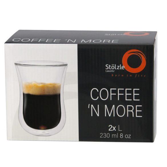 Pahar cu perete dublu 230ml Stolzle Coffee'n More