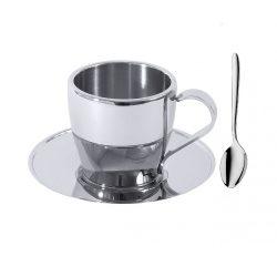 Set 3pcs inox ceasca cafea pereti dubli