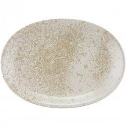 Platou oval 37cm linia Sandstone Beige
