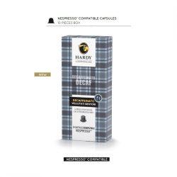 Cafea premium decofeinizata, Hardy Caffe, 10 capsule Nespresso