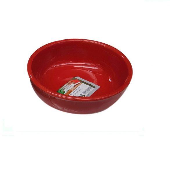 Bol ceramica 18 cm, rosu, De Silva
