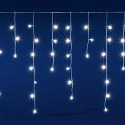 Perdea de lumini cu 400 LED-uri albe cu legare în serie