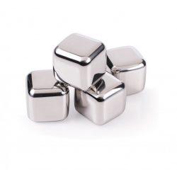 Set 4 cuburi inox pentru racire bautura
